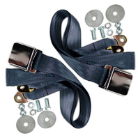 """(2) VW Bug Air Cooled, 2-Point Aviation Style Lap Seat Belt, BLUE,  72"""" PAIR"""