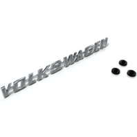 "Decklid Emblem w/ Clips, Brushed, ""Volkswagen"", T-1 67-79, T-3 67-73, Ghia 66-74"