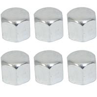 Acorn Cap Nut Kit, Oil Drain/Sump Plate Kit, 6mm, Set of 6,For VW Bug, Bus, S/B, Ghia