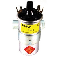 BOSCH 6 VOLT BLUE COIL , (silver in color) VW BUG,BEETLE ,SANDRAIL, BAJA 9408-B