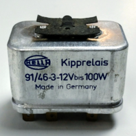 Hella 6 Pin Silver Headlight Relay 91/46-3-12V bis 100W German - 311-941-583A