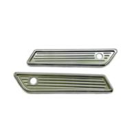 Chrome Ball Milled Saddle Bag Latch Covers Fits14-19 FLHT / FLHR / FLTRX / ...