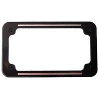 Custom License Frame, Ball Milled, Black, 7-1/4 x 4-1/4