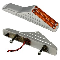 Viper Turn Signals, Pair Ball-Milled, Chrome