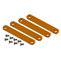 Replacement Amber Lens Kit For Viper Turn Signals, Set 4pc with 8 Screws
