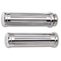 Grips, Pair, Smooth End, Chrome Billet