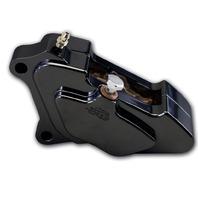 Caliper, Front Left 84-99, Chrome, 4-Piston Black