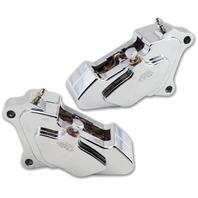 Chrome 4 Piston Brake Caliper Bagger Kit For Harley 2000-17