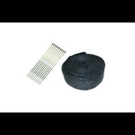"2"" x 50' Exhaust Header Heat Wrap Black With Stainless Straps"