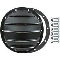 Black Aluminum Chevy GM 10 Bolt Differential Cover For 8.5 Inch Ring Gear