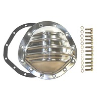 """Differential Cover, REAR, Polished Aluminum Fin, Fits Chevy/GM 12 Bolt 8.75"""" RG"""