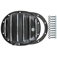 Black Finned Aluminum Dana 35 10-Bolt Diff Differential Cover Jeep YJ Midsize