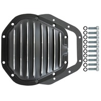Black Finned Aluminum Dana 60 10-Bolt Diff Differential Cover Ford MOPAR Truck