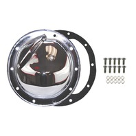 Chrome Steel Chevy GM 10 Bolt Diff Differential Cover w/ Drain Plug - A-B-C-G-K-