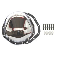 """Chrome Steel Chevy GM 12 Bolt Diff  8.75"""" RG Differential Cover REAR"""