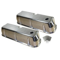 1962-85 SB Ford 289-351W 5.0L Polished Aluminum Smooth Tall Valve Covers Set