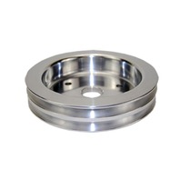 BBC Chevy 396-454 Machined Aluminum SWP Double Groove Crankshaft Pulley