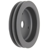 BBC Chevy 396-454 Black Aluminum SWP Double Groove Crankshaft Pulley