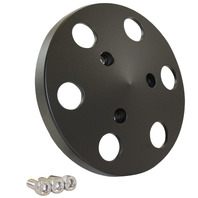 Black Aluminum Sanden 508 Style A/C Air Compressor Clutch Cover Faceplate