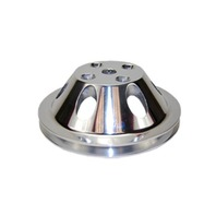 SBC Chevy 283-350 Polished Aluminum LWP Single Groove Water Pump Pulley