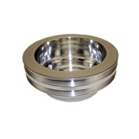 SBC Chevy 283-350 Machined Aluminum LWP Double Groove Crankshaft Pulley