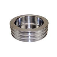 SBC Chevy 283-350 Machined Aluminum SWP Triple Groove Crankshaft Pulley