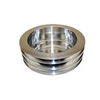SBC Chevy 283-350 Machined Aluminum LWP Triple Groove Crankshaft Pulley