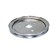SBC Chevy 283-350 Chrome Steel SWP Single Groove Crankshaft Pulley