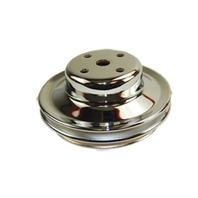 BBC Chevy 396-454 Chrome Steel LWP Double Groove Water Pump Pulley