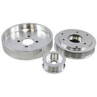 2001-2004 Ford Mustang 4.6L GT / 01 Cobra Polished Aluminum Serpentine Pulley Se