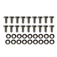 Chrome Transmission Pan Bolts & Washers Kit GM Ford Dodge Chrysler Mopar Hot Rod