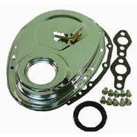 Raw SBC Chevy 283-350 Timing Chain Cover W/Small Tab Kit