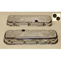 BIG BLOCK CHEVY SHORT FLAME VALVE COVERS 396-502