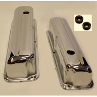 CHROME STEEL VALVE COVERS FORD 352-390-428 1958-1976