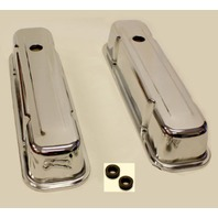PONTIAC TALL VALVE COVERS 59-79 326-455 CHROME