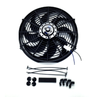 "14"" Electric Radiator Cooling Fan Curved Blade 12V 2525 CFM"