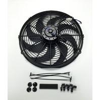 """16"""" Electric Radiator Cooling Fan Curved Blade 12V 2500 CFM"""