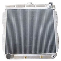 Ford Universal Horizontal Flow Aluminum Radiator For Auto Trans 18.25 X 19.25
