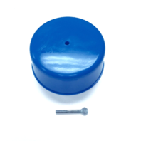 Hot Rod Blue Plastic Carburetor Dust Cover 5-1/8 Inch Neck