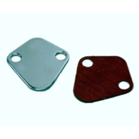 Fuel Pump Block Off Plate, Chrome, Fits Chevy BBC, Fits Ford SBF