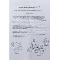 Chrome Saginaw Power Steering Pump Mounting Bracket Chevy GM SBC V8