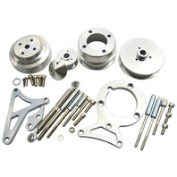 79-93 Ford Mustang GT LX 5.0L V8 Pulley & Bracket Kit Serpentine Billet Aluminum