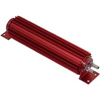 "Red Aluminum Finned ""Dual Pass"" Transmission Cooler - 18"""