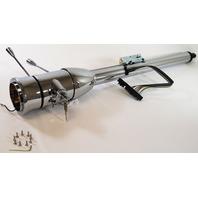"""Street Rod Chrome 30"""" Tilt Steering Column With Ignition Floor Shift"""