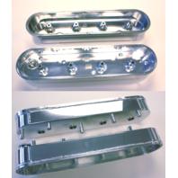 SBC LS1 LS2 LS6 LS7 L92 Polished Aluminum Fabricated Valve Covers NEW