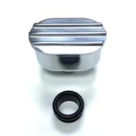 Hot Rod Oval Full Polished Billet Aluminum Valve Cover Breather W/ Grommet