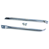 Chrome Radiator Support Bars, Fits Chevy Camaro/Firebird 1967-1969