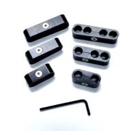 Hot Rod Black Billet Ignition Spark Plug Wire Looms Seperators 8-9mm