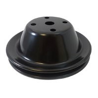SBC Chevy 283-350 Black Steel Smooth LWP Single Groove Water Pump Pulley