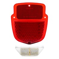 38 Red Led Tail Light With Led License Plate Light For 1953-56 Ford Truck - Left Side